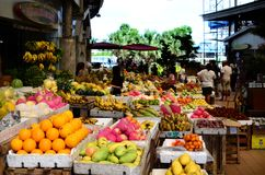 Tropical Fruit Market Stand in public market. Santa Rosa City, Laguna, Philippines - October 28, 2016: Tropical Fruit Market Stand in public market Royalty Free Stock Image