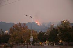 Santa Rosa - Larkfield-Wikiup, Airport Blvd fire. Evacuation. Stock Photo