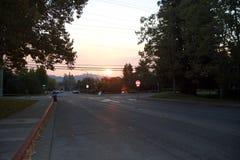 Santa Rosa - Larkfield-Wikiup, le feu de Bd. d'aéroport évacuation Photos libres de droits