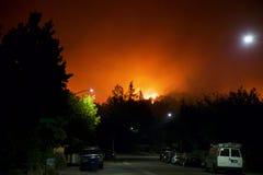 Santa Rosa - Larkfield-Wikiup, le feu de Bd. d'aéroport évacuation Images libres de droits