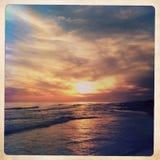 Santa Rosa-strand bij zonsondergang stock afbeelding
