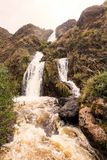Santa Rosa Small Waterfall In The National Park Sangay Royalty Free Stock Photography