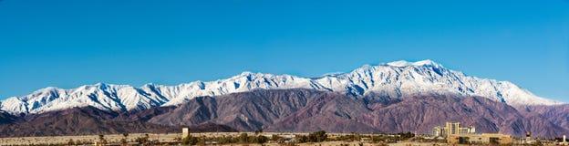 Santa Rosa y San Jacinto Mountains Panorama imágenes de archivo libres de regalías