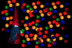 Santa rougeoyante Photos libres de droits
