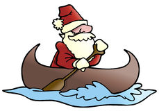 Santa row boat Stock Image