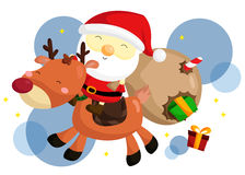 Santa and rudolf Stock Photo