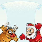 Santa with Rudolph Royalty Free Stock Image