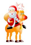 Santa&rudolph. Santa cartoon royalty free illustration