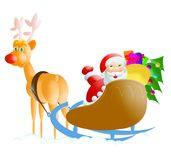 Santa-rudolph. Santa illustration royalty free illustration