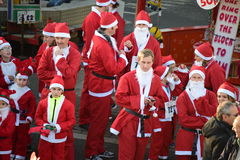 Santa run Royalty Free Stock Images