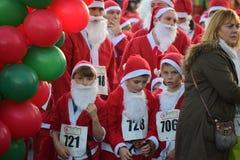 Santa run Stock Photo