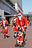 Santa Run in Sydney Royalty Free Stock Photos