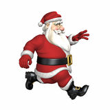 Santa Running Royalty Free Stock Photos