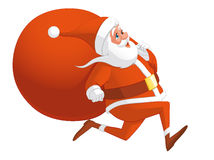Santa running Royalty Free Stock Image
