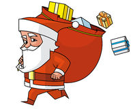 Santa running Stock Photo
