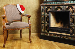Santa's Armchair Stock Photo