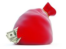 Santa's bag, dollar Stock Photos