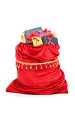 Santa�s bag full of Christmas presents Royalty Free Stock Photo