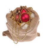 Santa's bagsack with christmas gifts Stock Photography