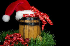 Santa's Barrel Stock Photo