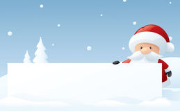 Santa's Big Announcement Stock Photos