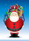 Santa's big surprise. Royalty Free Stock Photos