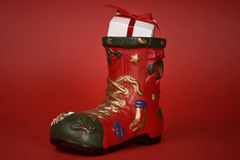 Santa's boot Stock Image