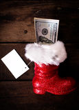 Santa's boot Stock Images