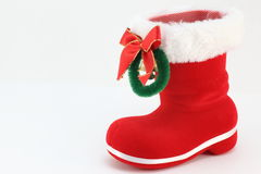Santa's boots. I tried to express the atmosphere of Christmas Royalty Free Stock Photo