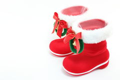 Santa's boots. I tried to express the atmosphere of Christmas Stock Photos