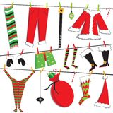 Santa's Christmas clothesline Stock Photography