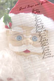 Santa's Christmas List. With names Stock Images