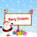 Santa's Christmas Message Stock Images
