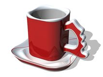 Santa's Coffee Cup_1. Coffee Cup royalty free illustration