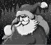 Santa's comming b&w Royalty Free Stock Photo