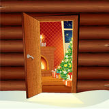 Santa's Cottage royalty free stock photography