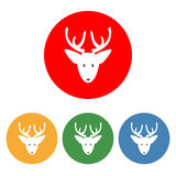 Santa`s Deer icon. On the white background. Vector illustration Stock Photos
