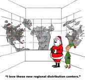 Santa's Distribution Centers Royalty Free Stock Photos