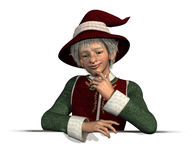 Santa's Elf Leaning on Edge Royalty Free Stock Images