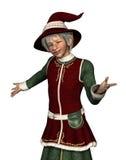 Santa's Elf Welcomes You Stock Photos