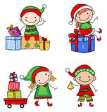 Santa's elfs Stock Photography