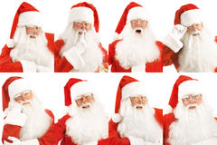 Santa's Emotions. Stock Photos