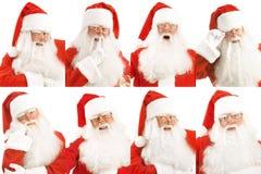 Santa's Emotions. Stock Photos