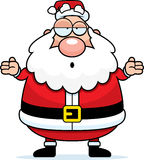 Santa s'est confondue Images libres de droits