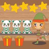 Santa's fairy helper Stock Images