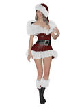 Santa´s girl Stock Images