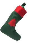 Santa's green and red stocking Royalty Free Stock Photo