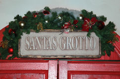 Santa's Grotto. The doors to Santa's Grotto royalty free stock photos