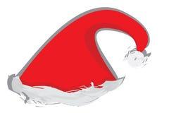 Santa's hat. Red Santa's hat. vector illustration Royalty Free Stock Photography