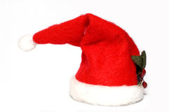 Santa's hat. Isolated on white background royalty free stock images